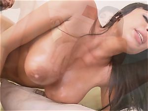 huge titted Anissa Kate finger nailed before she takes man rod