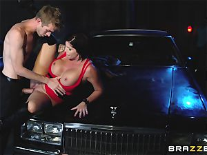 huge-titted ultra-cutie has orgy with a stranger man, and her spouse looks