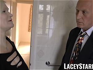 LACEYSTARR - Mature English stunner romped and facialized