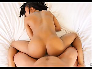 Kira Noir munched and dicked by a enormous jizz-shotgun