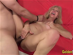 trampy grandmother Erica Lauren Gets Her Mature cooch Eaten and fucked