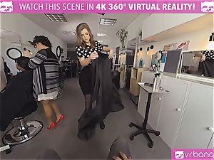 VRBangers.com Hairdresser Ella plowed rock hard and facial cumshot