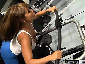 milf banging at the gym with Ava Devine and John heavy