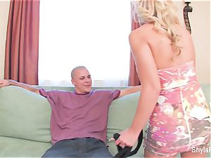Shyla Stylez shares a hefty wood with Aubrey Addams