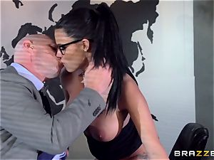 enormous titted Peta Jensen plumbed via the boardroom table