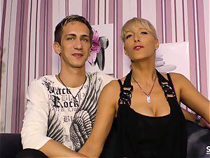 SexTapeGermany - German intercourse gauze with towheaded milf