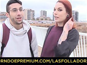 LAS FOLLADORAS - Silvia Ruby takes random guy for hookup