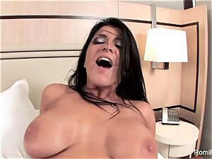 Romi Rain gets a excellent penetrate from a meaty trunk