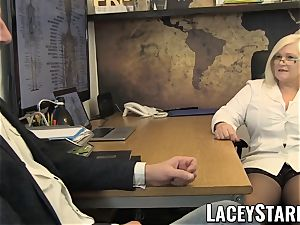 LACEYSTARR - GILF tongues Pascal white jizz after fuck-fest