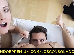 LOS CONSOLADORES - nice babe nude massage and 3some
