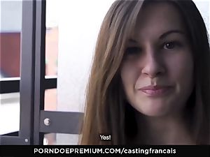 audition FRANCAIS Cowgirl fuckpole riding with shy newcummer