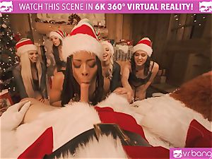 VRBangers Christams orgy With Eight stunning Elves