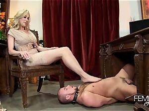 nasty thick bosses Headmistress Brandi love predominates her worker in the office
