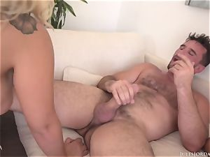 two ginormous caboose wild tennis players Assh Lee and Morgan Lee get deeper bum-fucked