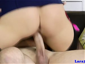 Doggystyled brit milf gargling hard bone