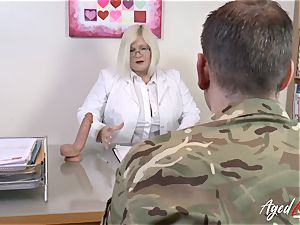 AgedLovE Lacey Starr boning rock hard with Soldier