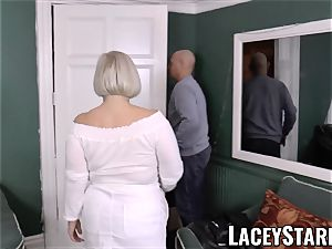LACEYSTARR - chesty GILF negotiates a fine vagina deal