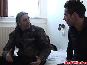 ash-blonde amsterdam prostitute cumsprayed by client