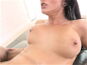 Creaming inside magnificent black-haired Katrina Jade