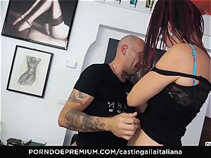 casting ALLA ITALIANA - beginner assfuck gape and tear up