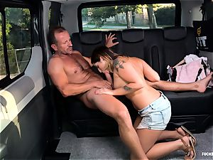 plumbed IN TRAFFIC - hump in the car with Czech hottie