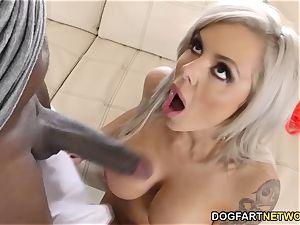 big-titted cougar Nina Elle rockets On Mandingo's big black cock