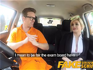 fake Driving college Posh insatiable big-titted examiner