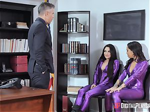 impatient muffs Kissa and honey bend over for Micks salami