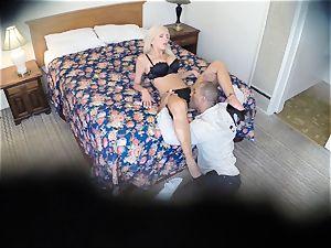 insane Nina Elle nails her stud at the hotel