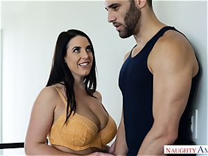 Lusty big-chested Australian Angela milky nutted Over After xxx pulverize