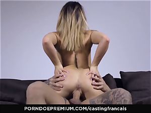 audition FRANCAIS - stunning inexperienced very first porno nail
