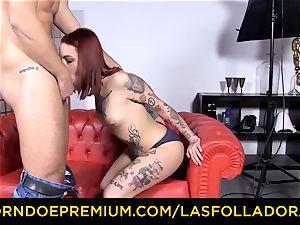 LAS FOLLADORAS - tattooed sandy-haired superstar torn up firm