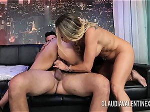 Claudia Valentine joins a couple for a threeway