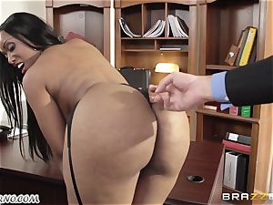 My fresh black secretary Codi Bryant with immense congenital bra-stuffers