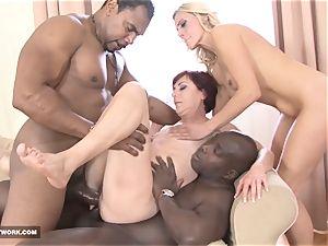 black boys drill white girls fuckpole deep-throat drink bi-racial