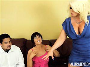 Alura Jenson gets a bit ultra-kinky and commences to slap