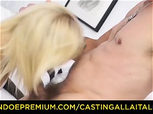audition ALLA ITALIANA steaming blonde dumps in rock hard anal
