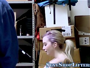 Shoplifting teenager mouths