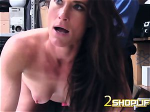 steamy cougar Sofie is wrecked by nasty officers loaded fuckpole