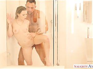 Aubrey Sinclair banged in the bathroom