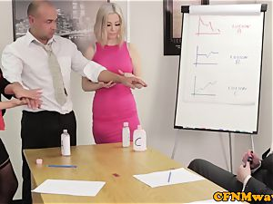 Office female domination affair with Chantelle Fox