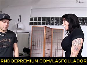 LAS FOLLADORAS - busty Suhaila hard nailed in steaming 3