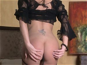 cool starlet Jenna Presley takes out her phat mounds and flashes off