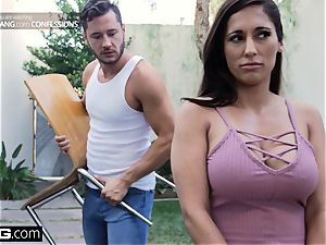 plow Confessions Latina Housewife Reena pulverizes her mover