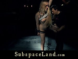 gimp woman blonde pleasured and disciplined in conformity