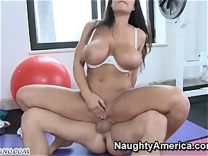 physical Education lessons with chesty mummy Lisa Ann