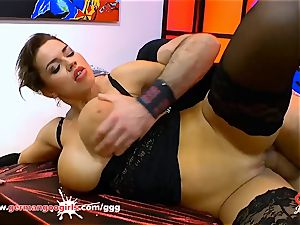 giant jugs and cum for wondrous Chloe La Moure