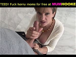 mommy in cool underwear tempt her sonnie and then shag with him