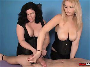 client Shocks To observe The stunning blonde massagist