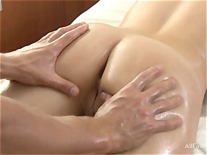 super-cute japanese luvs rubdown and deep intrusion into her lush cunny